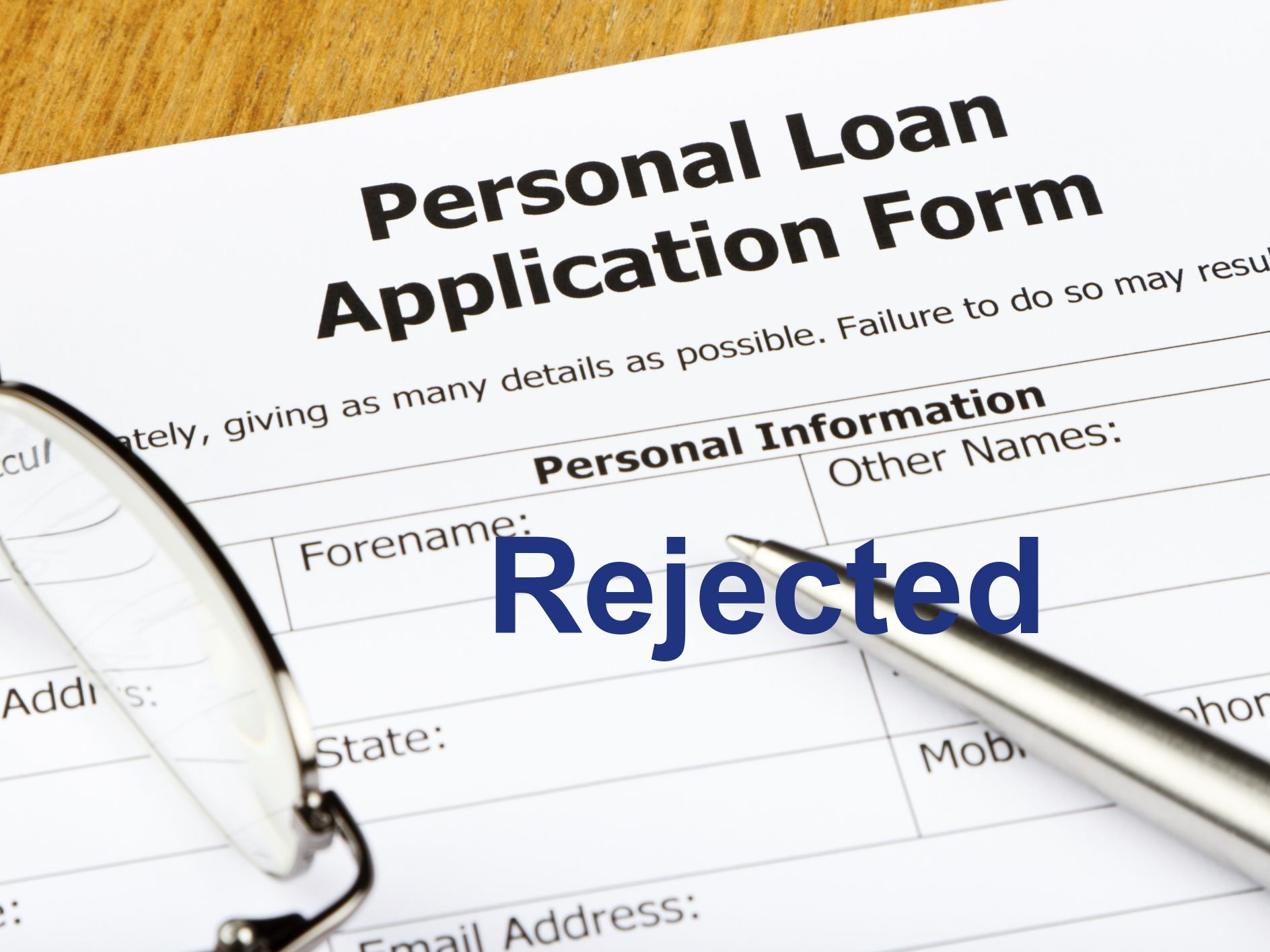 reason for loan rejection